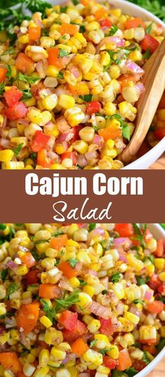 A TASTY side dish to serve at your next BBQ party. This sweet and spicy creation will be your next HIT. Corn Salad Recipes, Summer Salad Recipes, Chicken Salad Recipes, Vegetable Recipes, Recipes With Corn, Recipes With Egg Noodles, Mexican Salad Recipes, Side Dishes For Bbq, Side Dish Recipes