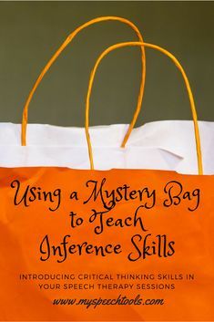 """Grab your students' attention and introduce a new theme using """"Mystery Bags"""" in speech therapy. Read how I use them in speech therapy for ."""