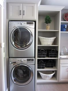 I like the wee cupboard above the appliance stack..using every last piece of vertical space. And the open shelving looks nice, but in reality, mine will never be that empty (neat), and think of the dust those shelves will accumulate!!