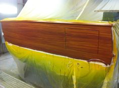 #TRANSOM: Callie Girl, Manteo North Carolina #Boat #Transom #BoatTransom  TRANSOM #TECHNIQUE: #GoldLeaf #FauxTeak   #BOAT #BUILDER #SpencerYachts , #NorthCarolina