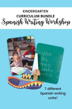 This is a set of Spanish writing units designed for Kindergarten students. The lessons cover narrative, opinion, and informational writing. Materials for the entire year are included! Informational Writing, Writing Words, Writing Workshop, Second Grade, Kindergarten, Spanish, Classroom, The Unit, Cover
