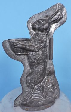 ANTIQUE ANTON REICHE MADE IN GERMANY LARGE STANDING RABBIT CHOCOLATE MOLD #Unbranded #Everyday
