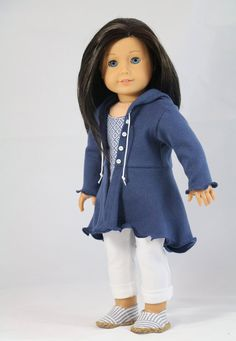 18 inch Doll Clothes Pattern The Hyde Park von NoodleClothing