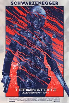 Grey Matter Art will release a new poster for Terminator 2 by Gabs next week. Omg Posters, Best Movie Posters, Movie Poster Art, Film Posters, Fan Poster, James Cameron, Arnold Schwarzenegger, Poster Retro, Alternative Movie Posters