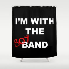 I'm With the Boy Band Shower Curtain | boy band, band, im with the band, im with the boy band, 1990s, 90s, groupie, band aid, pop, music, concert, Backstreet Boys, BSB, Nick Carter, Brian Littrell, AJ McLean, Howie D, Kevin Richardson