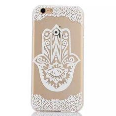 Hamsa Phone Case in White