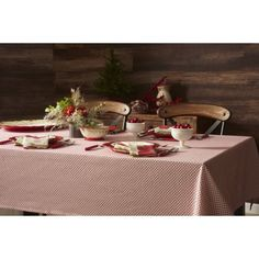 The Pioneer Woman Holiday Geo Cheer Tablecloth, 60 inch X 102 inch, Multicolor