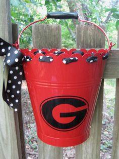 Personalized GEORGIA BULLDOGS Bucket