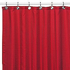 image of Westerly Red Fabric Shower Curtain