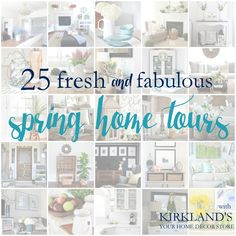25 Spring Home Tours + a great @kirklands Giveaway !!!! Click here to check it out and enter …….. #giveaway #kirklands