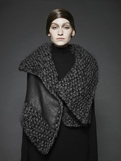 Sunghee_Bang - knitting and leather