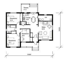 Casa tradicional 3 quartos