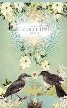 We have Everything we need inspirational large by pleasebestill