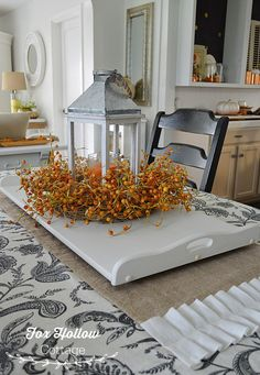 Fall at Fox Hollow Cottage, home decorating