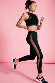 Mesh-Panel Gym Leggings | sheerluxe.com
