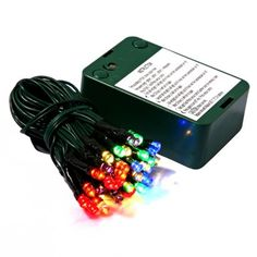 35ct Multi LED Battery Operated Timer String Lights.