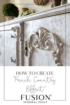 Learn how to create the French Country Look using Fusion Mineral Paint - this DIY furniture tutorial will help you create an authentic French Country piece. Country Look, Modern French Country, French Country Kitchens, French Country Living Room, French Country Bedrooms, French Cottage, French Country Dishes, French Country Crafts, Country Bathrooms