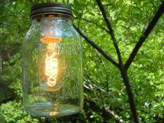 Vintage Mason Jar Light - Hanging Pendant or Swag Lamp - Repurposed Upcycled Salvage - Rustic Home Decor.