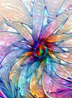 Blue Petalia Digital Art by Amanda Moore