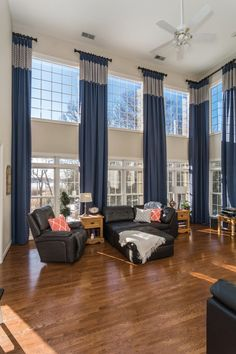 Make Your Tall Two Story Window Treatments The Center Of Attention For Our
