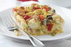 Easy egg bake recipe. Prepare ahead for next morning. Good for xmas breakfast!