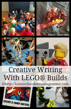 Creative Writing With LEGO builds - How my daughter uses LEGOs as a springboard for writing. from #homeschool Encouragement