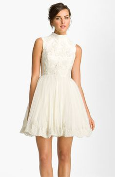 Ted Baker London 'Telago' Embroidered Tulle Frock
