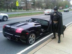 """Batman pulled over driving tagless """"Batmobile"""" in Washington, D.C. I would love to have seen this!"""