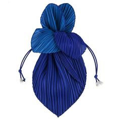 ISSEY MIYAKE 'Pleats Please' Royal Blue Pleated Drawstring Clutch Handbag Purse   1stdibs.com