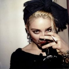 Madonna. The skin looks great. And the eyes. This look will never be an option for me.