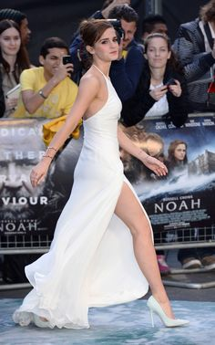 Emma Watson attends the UK premiere of 'Noah' in London, England. via StyleList