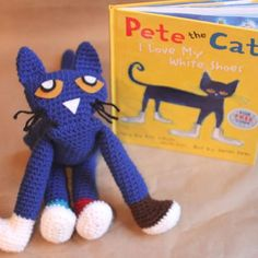 Pete the Cat Crochet Doll