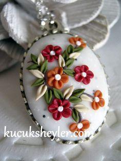 ♥ polimer kil/fimo, resin ve kart yapım çalışmaları ♥: polimer kil yüzük, broş ve kolyeler