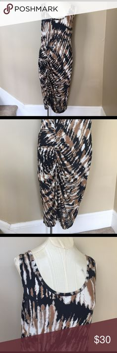 NWT Karen Kane Gathered Midi Dress Stunning (and soft!) midi dress with gathering to the right side. Fun little piece! Brand new Karen Kane Dresses Midi