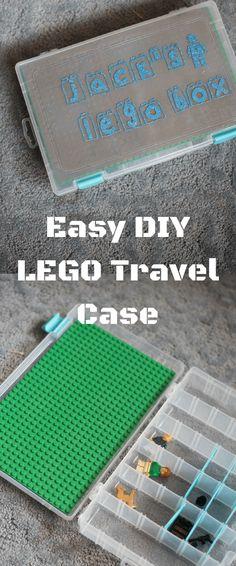 LEGO Storage / LEGO Travel Tray / LEGO Craft / DIY Travel Case / LEGO, LEGO, LEGO / LEGO Ideas via @clarkscondensed