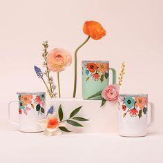 Black Coffee Mug, Coffee Cups, Design Thinking, Rose Quartz Color, Chamomile Tea, Rifle Paper Co, Pick Me Up, Illustrations, Drinkware