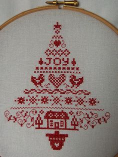 Christmas Redwork by glazedangel101, via Flickr