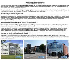 Effektiv vinduespudsning i Ballerup og omegn.
