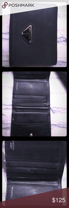 PRADA classic- authentic wallet Barely used- authentic Prada wallet Prada Bags Wallets