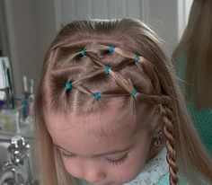 Little Girl& Hairstyles - Side Puffy Braid with Twist Braid . Little Girl Hairdos, Girls Hairdos, Little Girl Braids, Girls Braids, Short Hairstyles For Thick Hair, Medium Short Hair, Pretty Hairstyles, Braided Hairstyles, Short Hair Styles