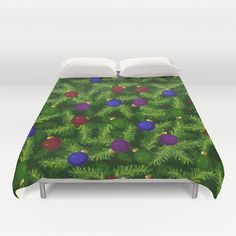 Decorated Christmas Tree Duvet Cover by DAW Surface Design - $99.00
