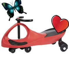 The Red Wiggle Racer* ride-on car doesn't require an expensive power source that needs constant replacement. No batteries! No power-cells! No liquid fuel! It provides kids with plenty of exercise, more so than most toys. All it needs to operate is a driver and a smooth, flat surface.