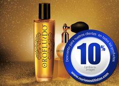 Oro fFluido Gift Box Un sofisticado y original polvo de oro que aporta al cabello el toque de luminosidad del preciado metal mientras seduce los sentidos con la exquisita fragancia propia de la gama Orofluido