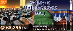 Gold C Hajj Packages from UK. send your inquiry on info@mzahidtravel.com.