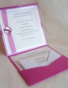 Launch of the pocketfold handmade wedding invitation range from Beautiful Pawprint Designs