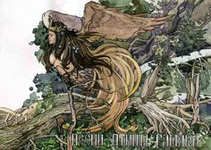 Гамаюн (Gamayun) is a prophetic bird of Russian Folklore. A symbol of wisdom and knowledge, it lives on an island in the east, close to paradise. Like the Sirin and the Alkonost, the Gamayun is normally depicted as a large bird with a woman's head.