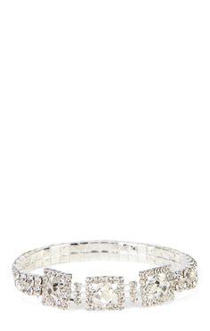Deb Shops Square Rhinestone Bracelet $8.40