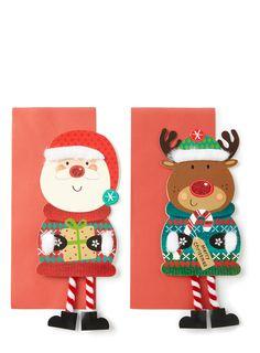 santa and reindeer cards