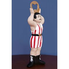 Circus strongman bottle opener is the ideal gift for a man's best friend, especially if he works out at the gym and thinks he's a little bit of a hard nut