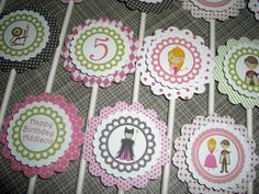 Items similar to Sleeping Beauty Princess Birthday Party Cupcake Toppers - Set of 12 - Personalized, Custom - Pink, Fuscia, Green, Black on Etsy Princess Aurora Party, Princess Birthday, Girl Birthday, Birthday Ideas, Birthday Parties, Sleeping Beauty Party, Sleeping Beauty Maleficent, Sleeping Beauty Princess, Aurora Sleeping Beauty